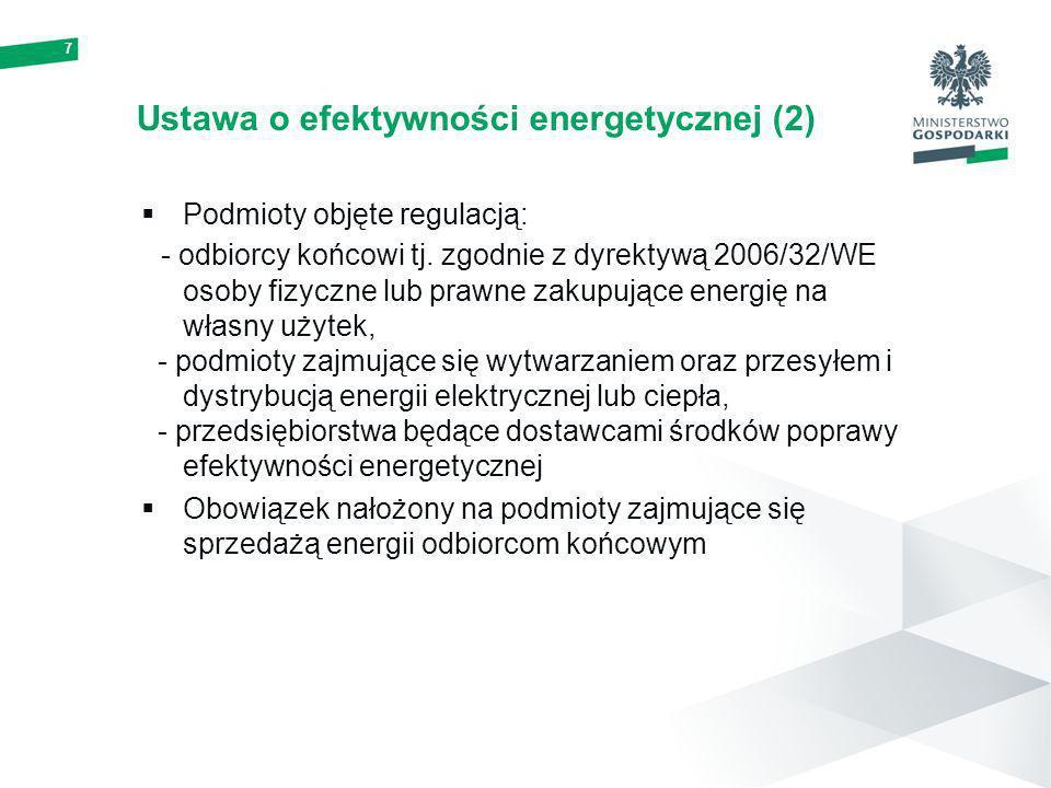 Ustawa o efektywności energetycznej (2)