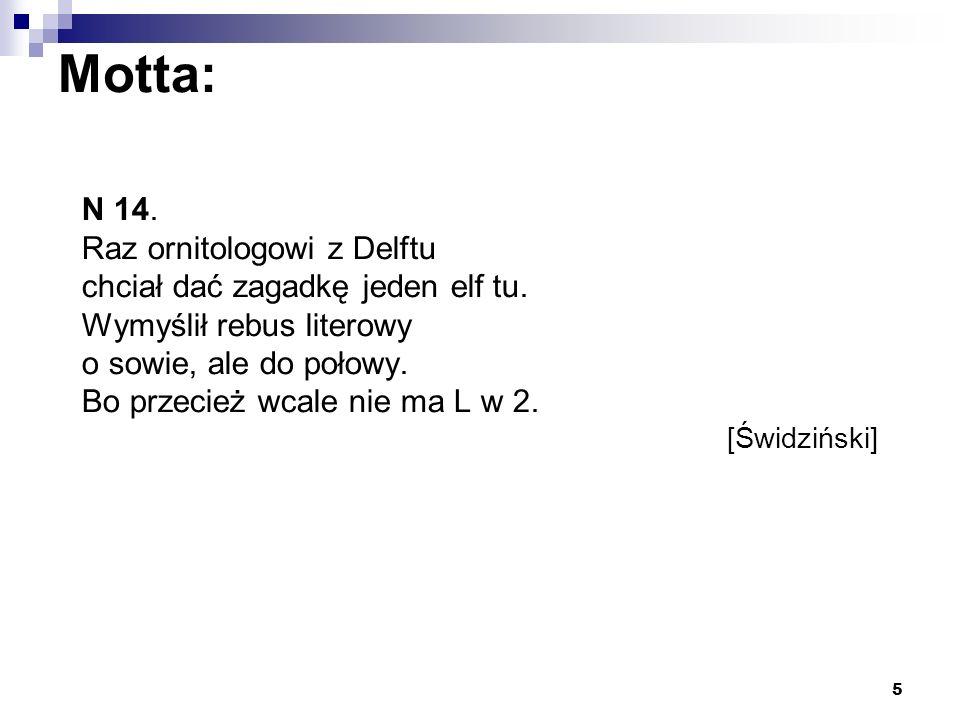 Motta: N 14. Raz ornitologowi z Delftu