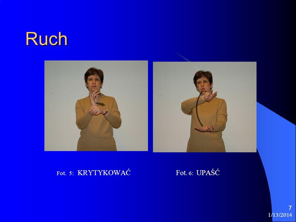Ruch Fot. 5: KRYTYKOWAĆ Fot. 6: UPAŚĆ 3/26/2017
