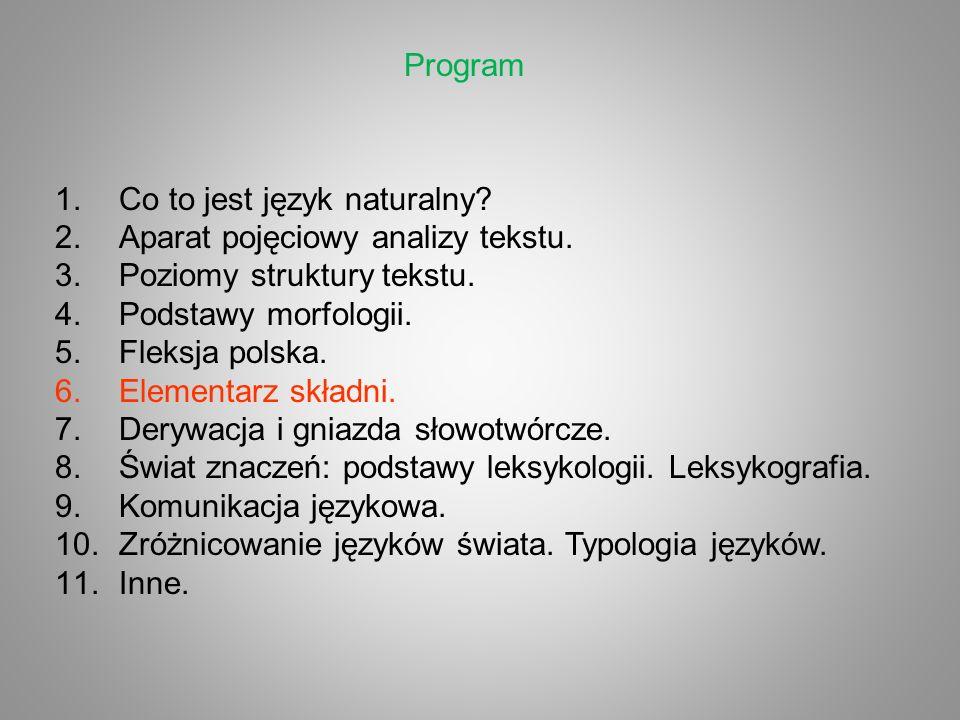 Co to jest język naturalny Aparat pojęciowy analizy tekstu.