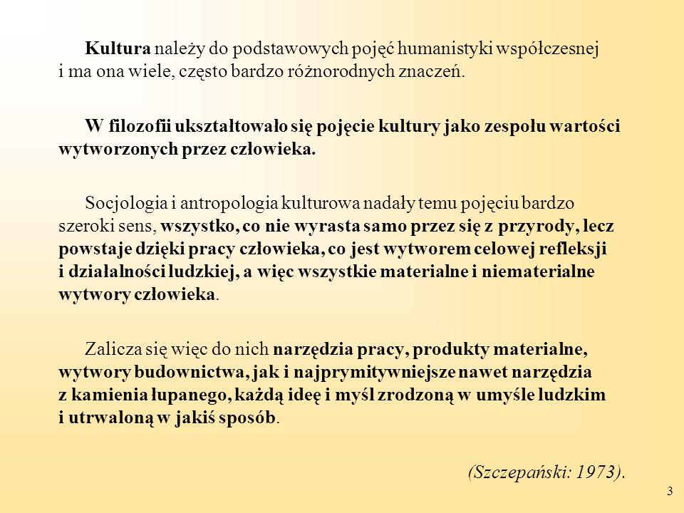 Kultura należy do podstawowych pojęć humanistyki współczesnej i ma ona wiele, często bardzo różnorodnych znaczeń.