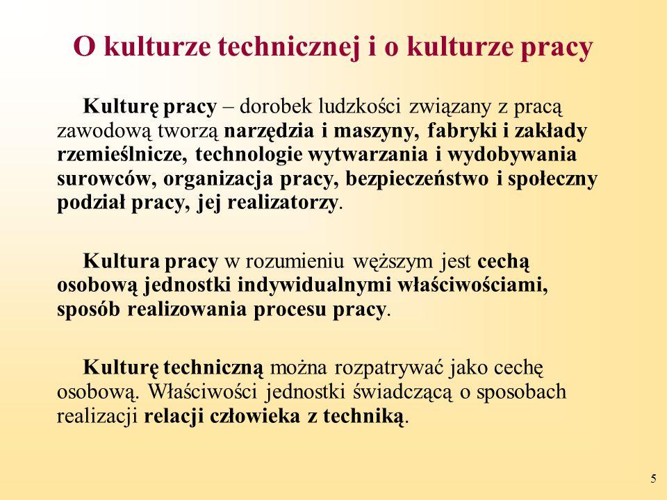 O kulturze technicznej i o kulturze pracy