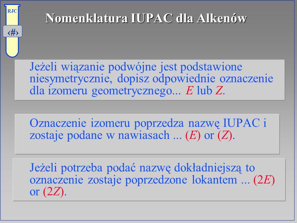 Nomenklatura IUPAC dla Alkenów