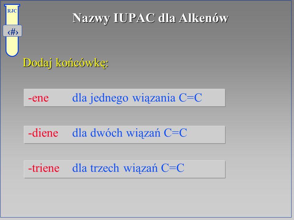 Nazwy IUPAC dla Alkenów