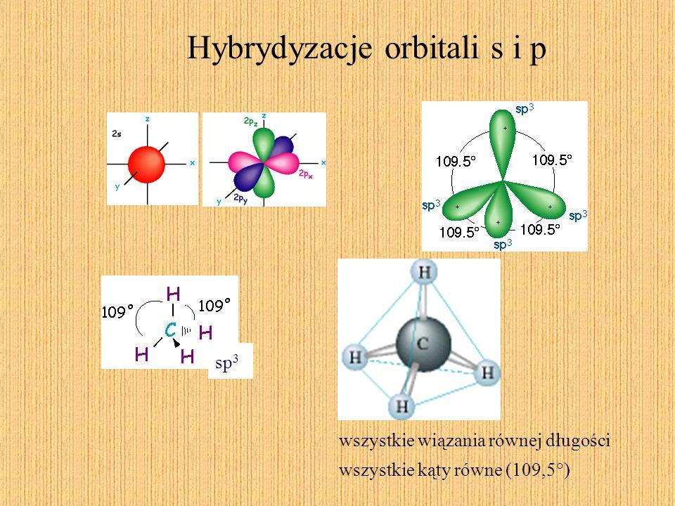Hybrydyzacje orbitali s i p