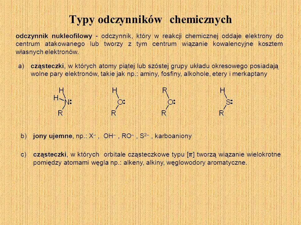 Typy odczynników chemicznych