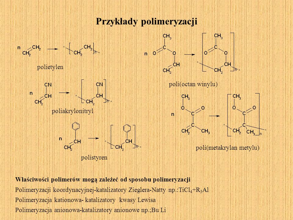 Przykłady polimeryzacji
