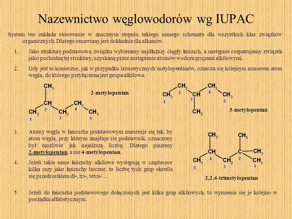 Nazewnictwo węglowodorów wg IUPAC