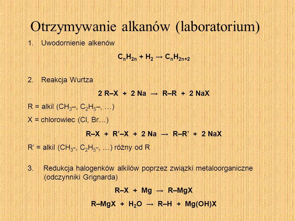 Otrzymywanie alkanów (laboratorium)