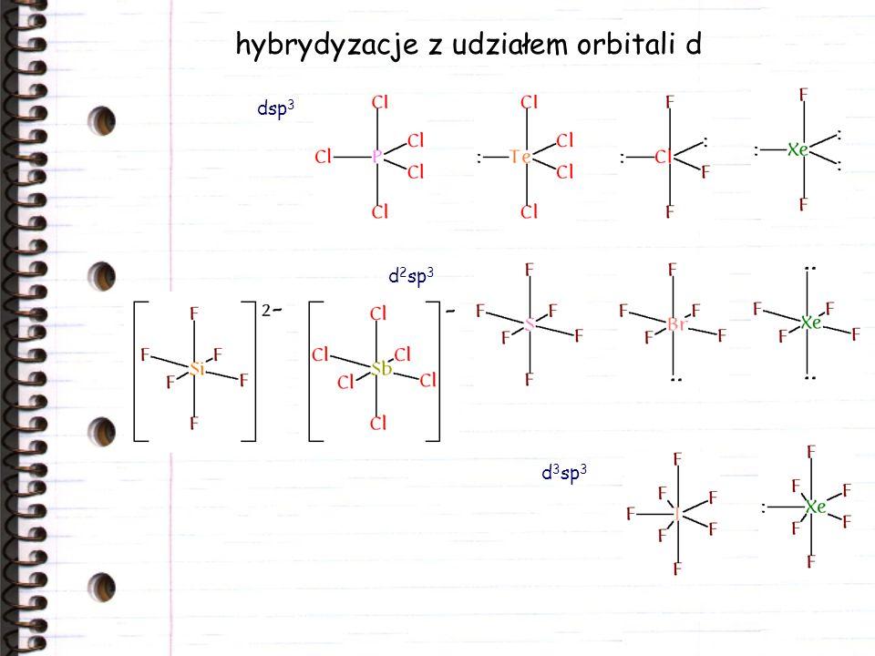hybrydyzacje z udziałem orbitali d
