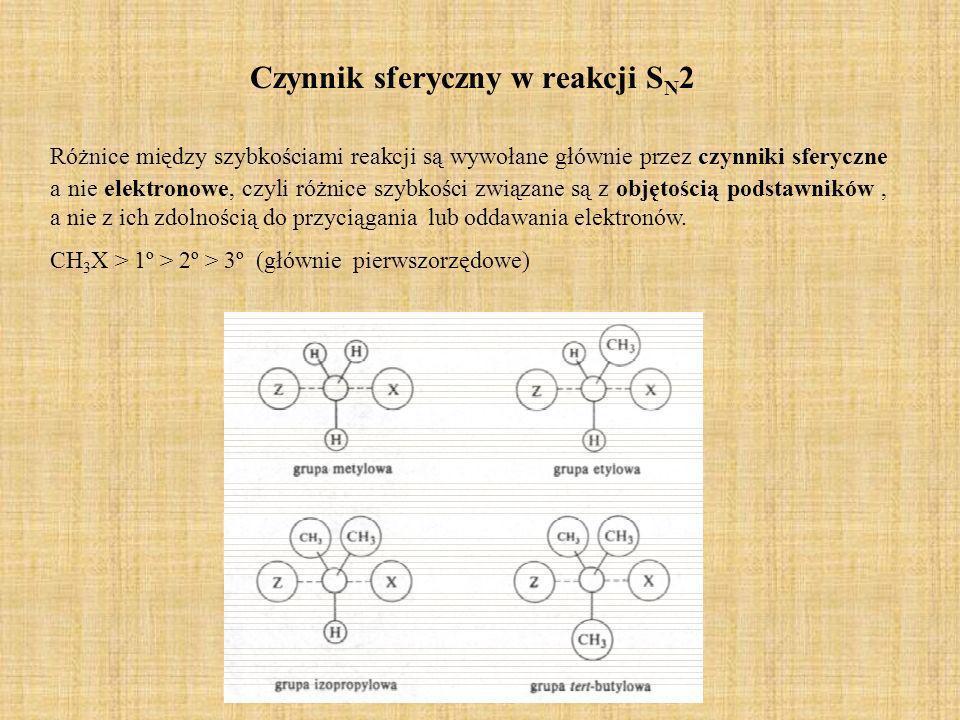 Czynnik sferyczny w reakcji SN2