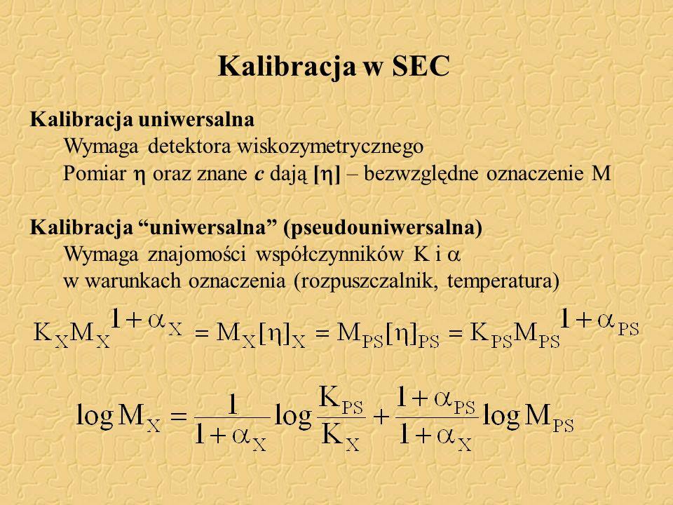 Kalibracja w SEC Kalibracja uniwersalna
