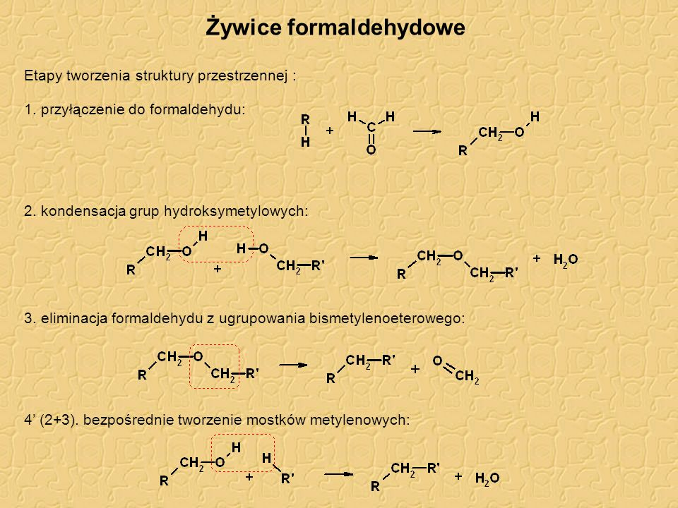 Żywice formaldehydowe