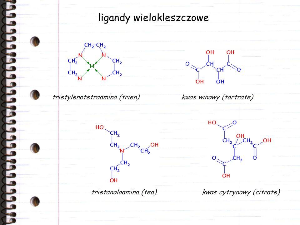 ligandy wielokleszczowe