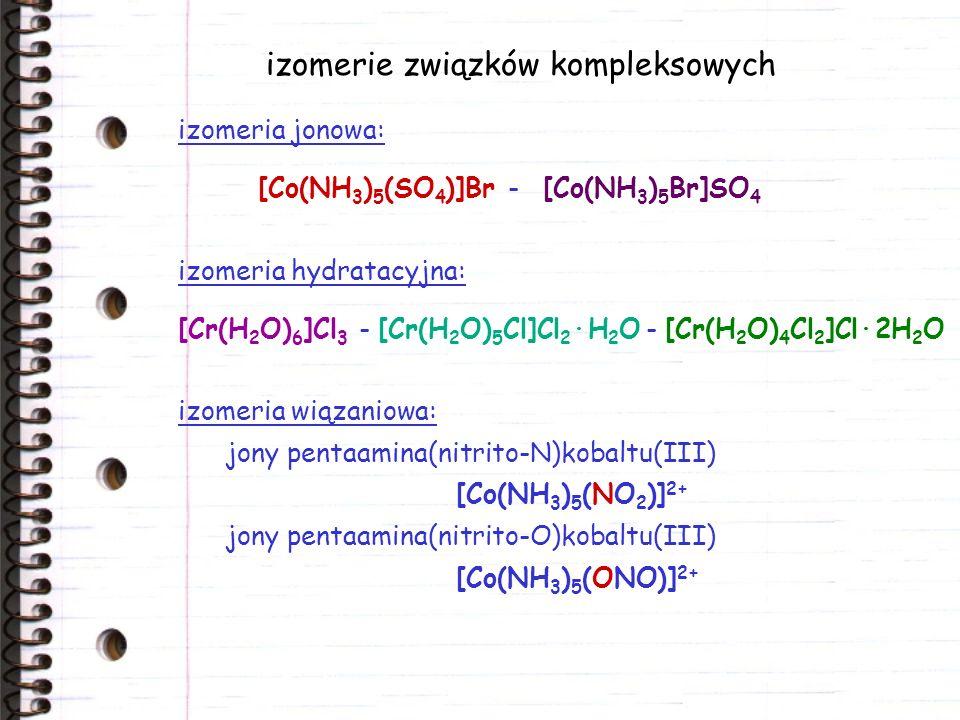 izomerie związków kompleksowych