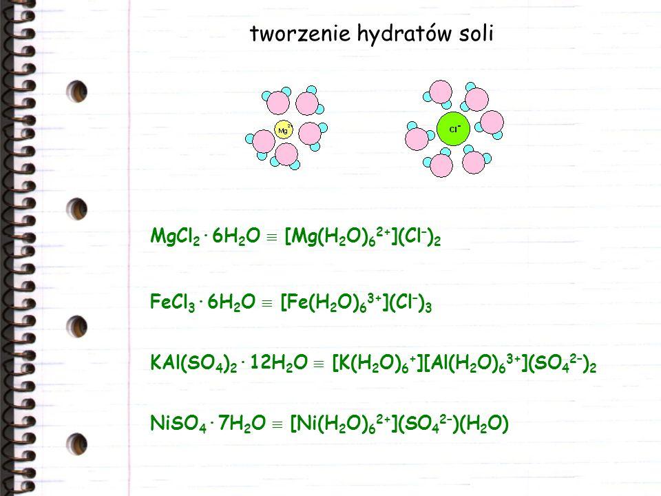 tworzenie hydratów soli