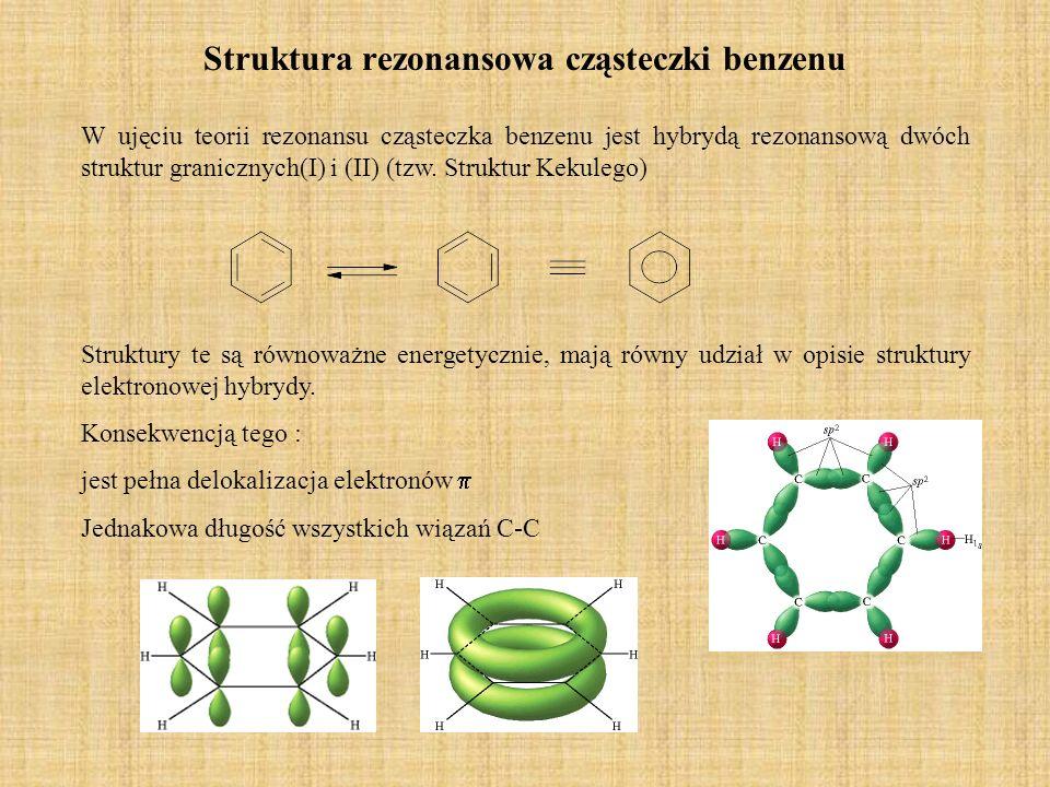 Struktura rezonansowa cząsteczki benzenu