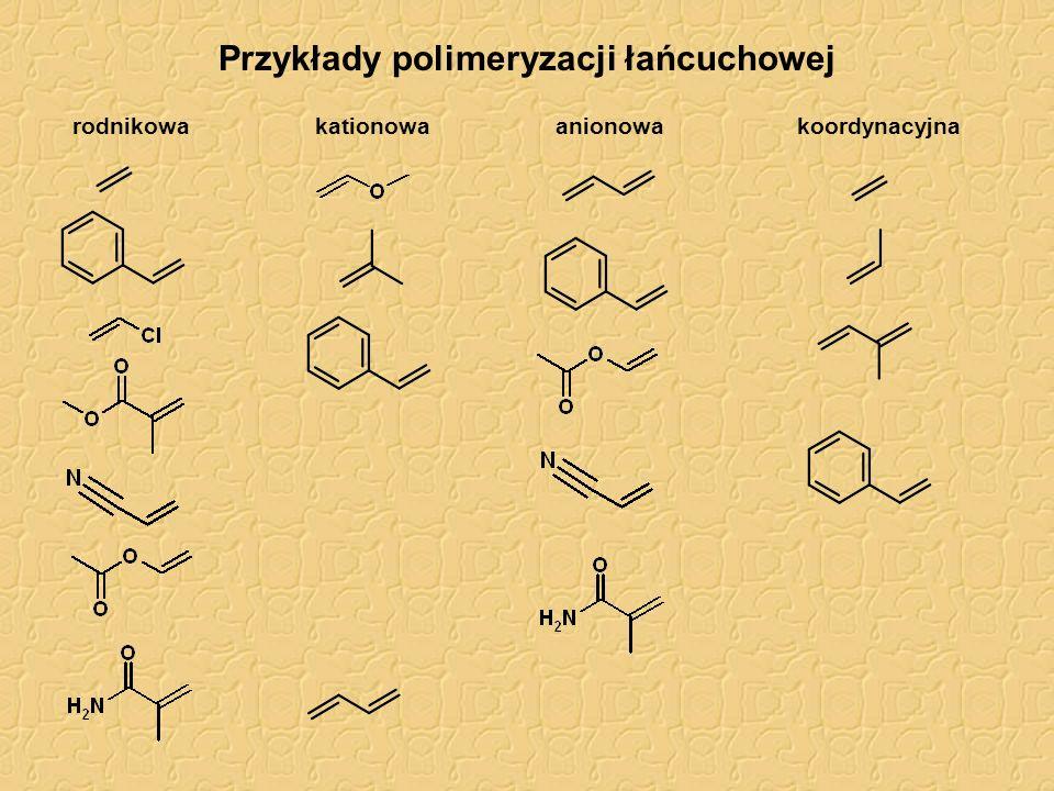 Przykłady polimeryzacji łańcuchowej