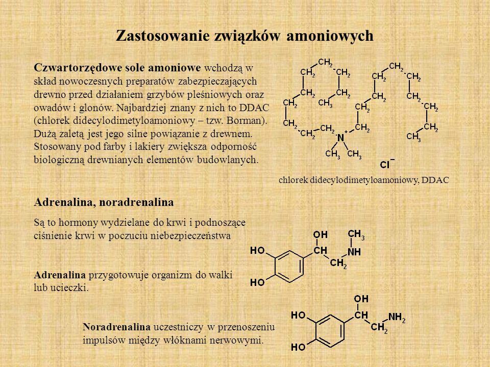 Zastosowanie związków amoniowych