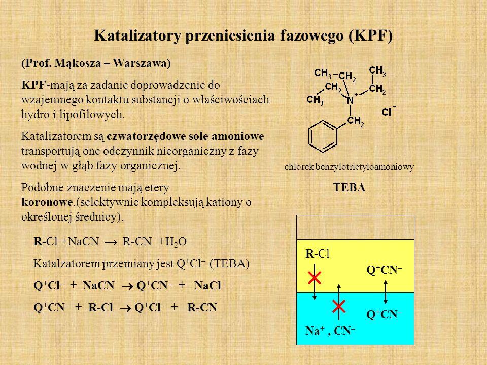 Katalizatory przeniesienia fazowego (KPF)