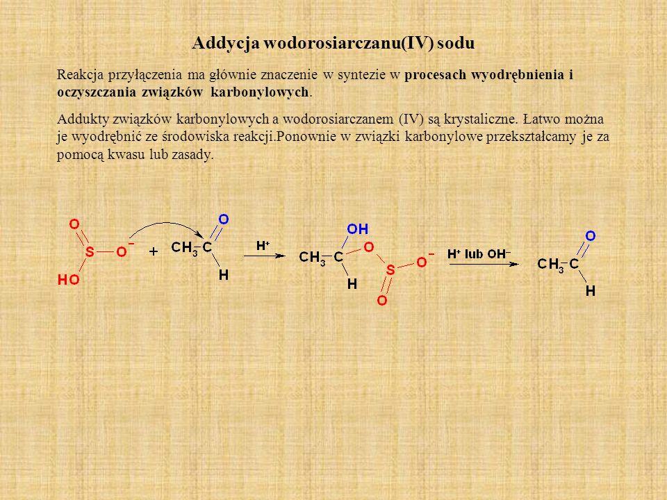 Addycja wodorosiarczanu(IV) sodu