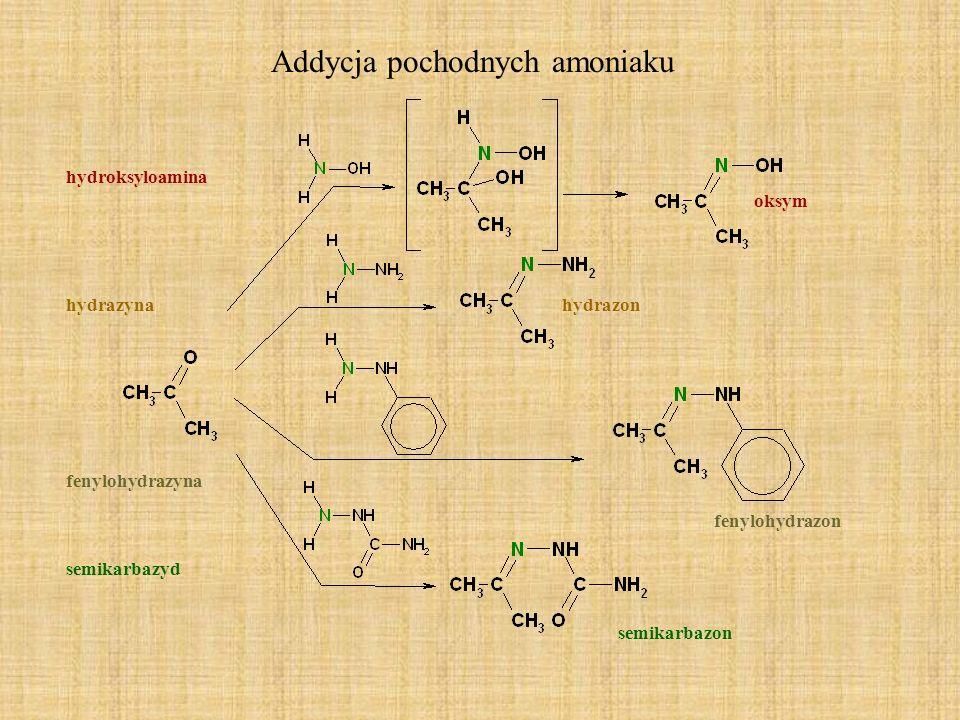 Addycja pochodnych amoniaku