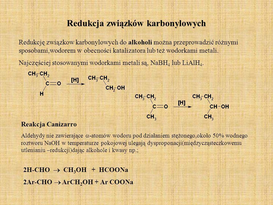 Redukcja związków karbonylowych