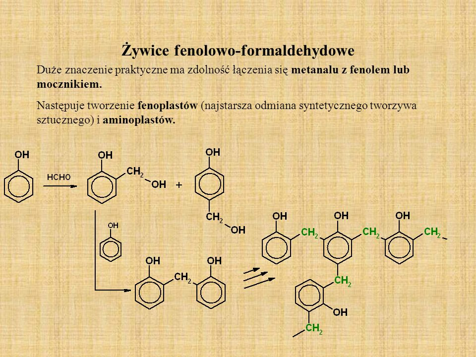Żywice fenolowo-formaldehydowe