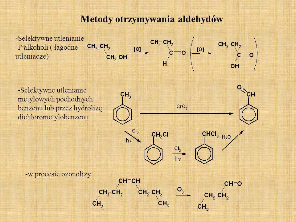Metody otrzymywania aldehydów