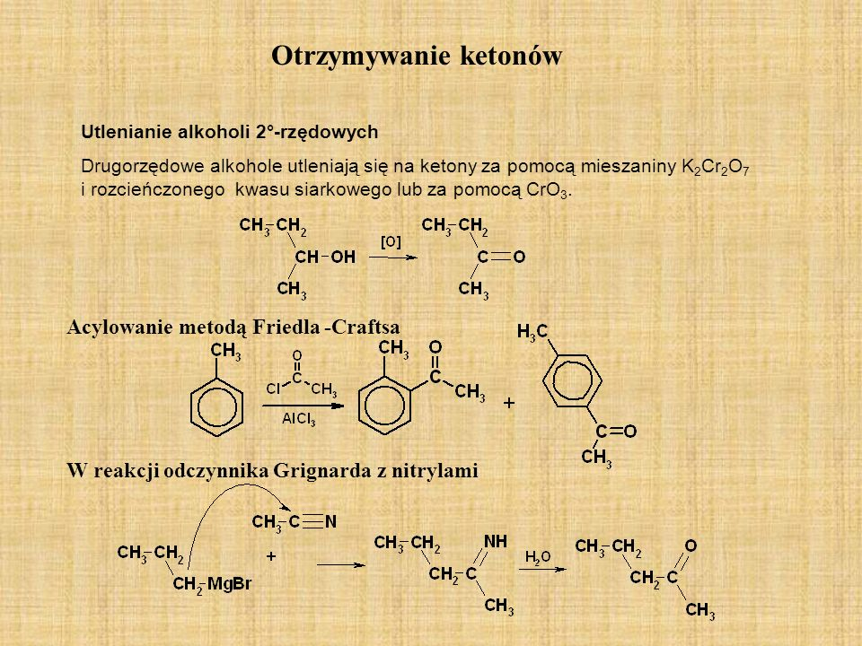 Otrzymywanie ketonów Acylowanie metodą Friedla -Craftsa