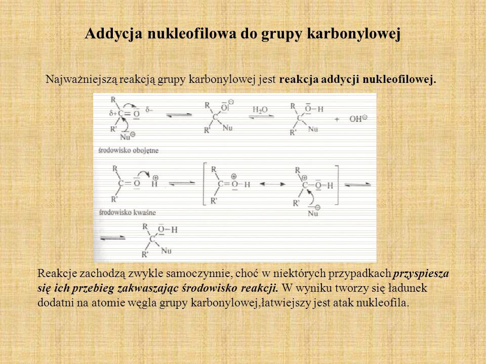 Addycja nukleofilowa do grupy karbonylowej