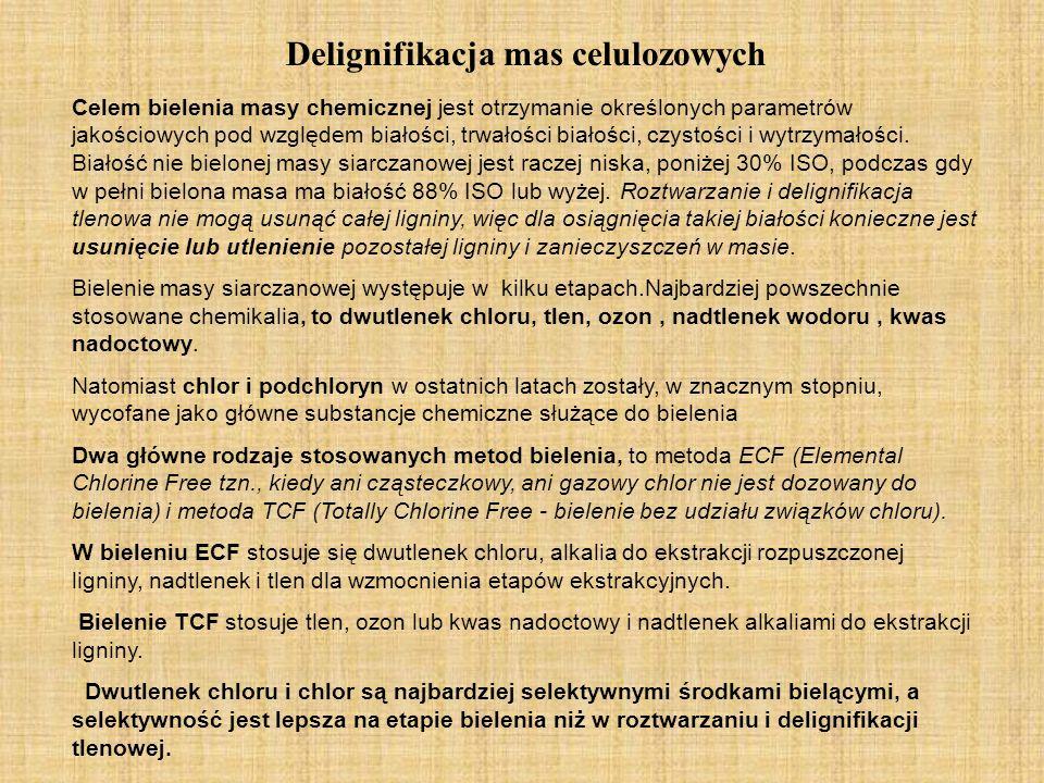 Delignifikacja mas celulozowych