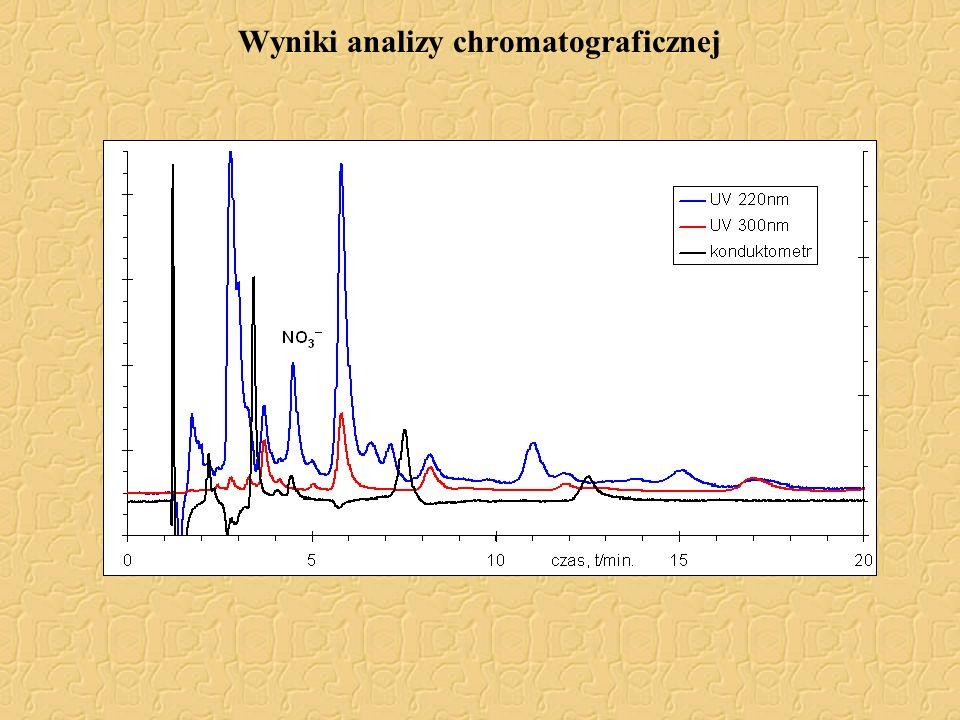 Wyniki analizy chromatograficznej