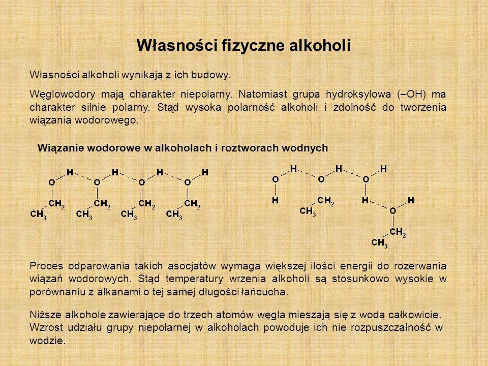 Własności fizyczne alkoholi