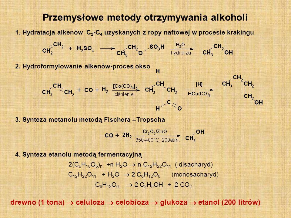 Przemysłowe metody otrzymywania alkoholi