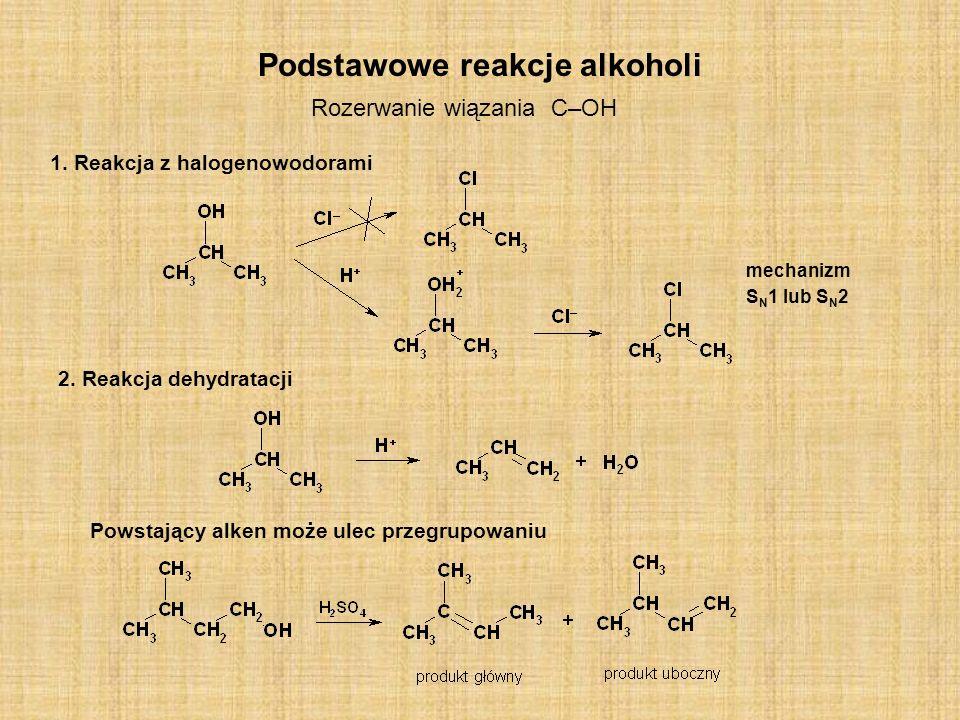 Podstawowe reakcje alkoholi
