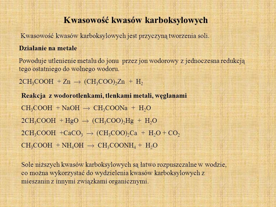 Kwasowość kwasów karboksylowych