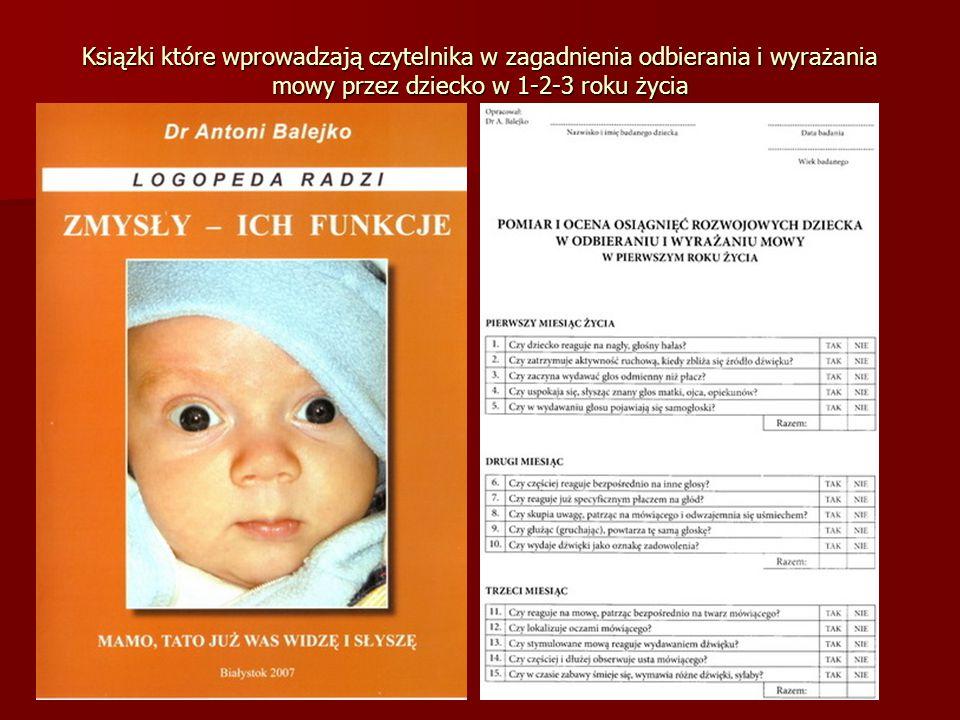 Książki które wprowadzają czytelnika w zagadnienia odbierania i wyrażania mowy przez dziecko w 1-2-3 roku życia