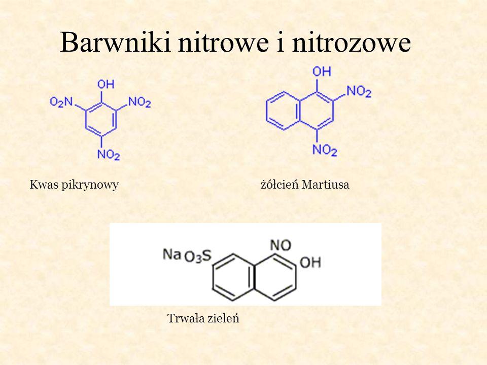 Barwniki nitrowe i nitrozowe