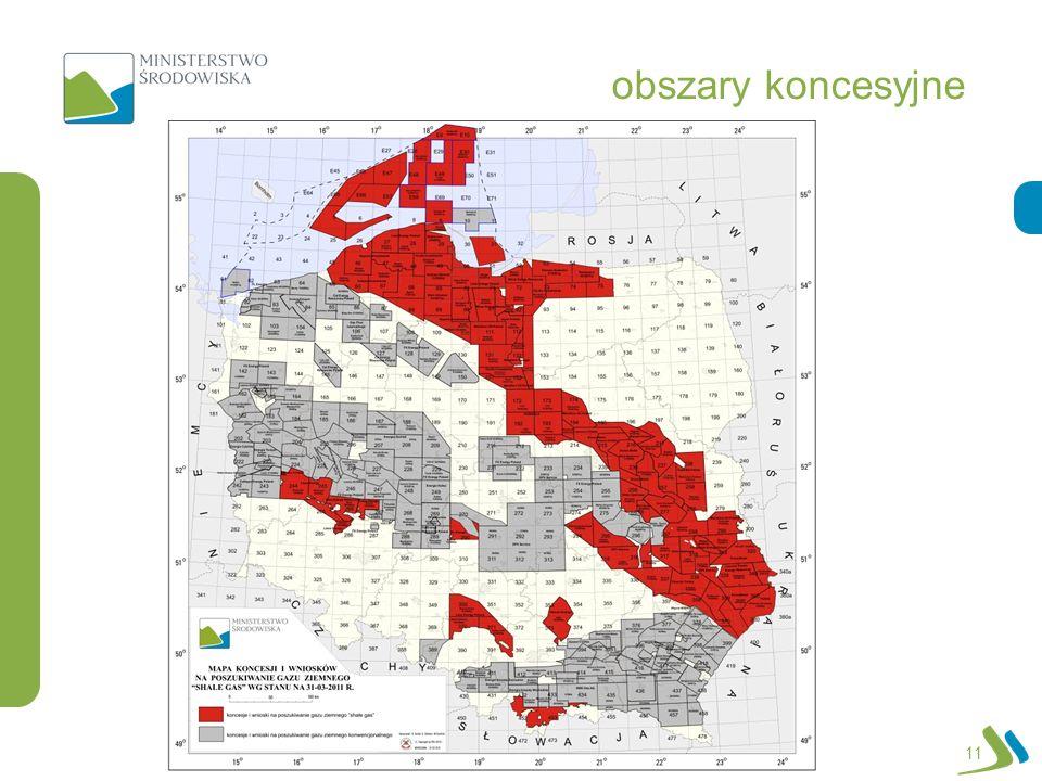 obszary koncesyjne Jest to przykładowy slajd do wzorca: Wypunktowanie Numeryczne