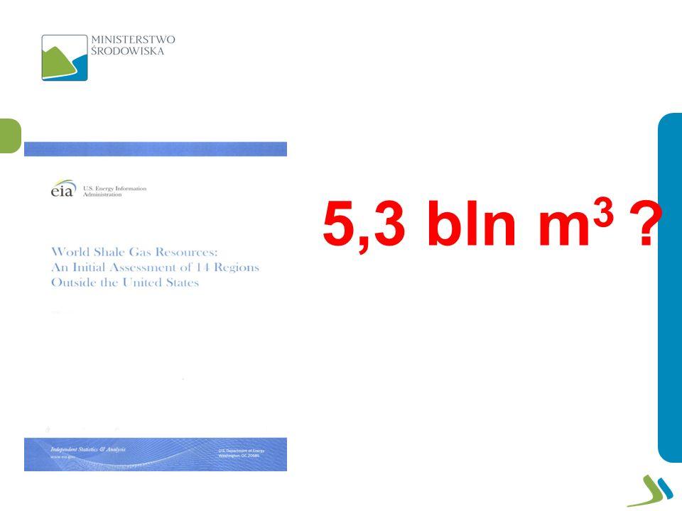 5,3 bln m3
