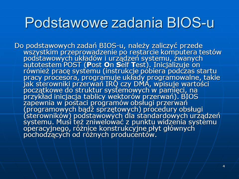 Podstawowe zadania BIOS-u