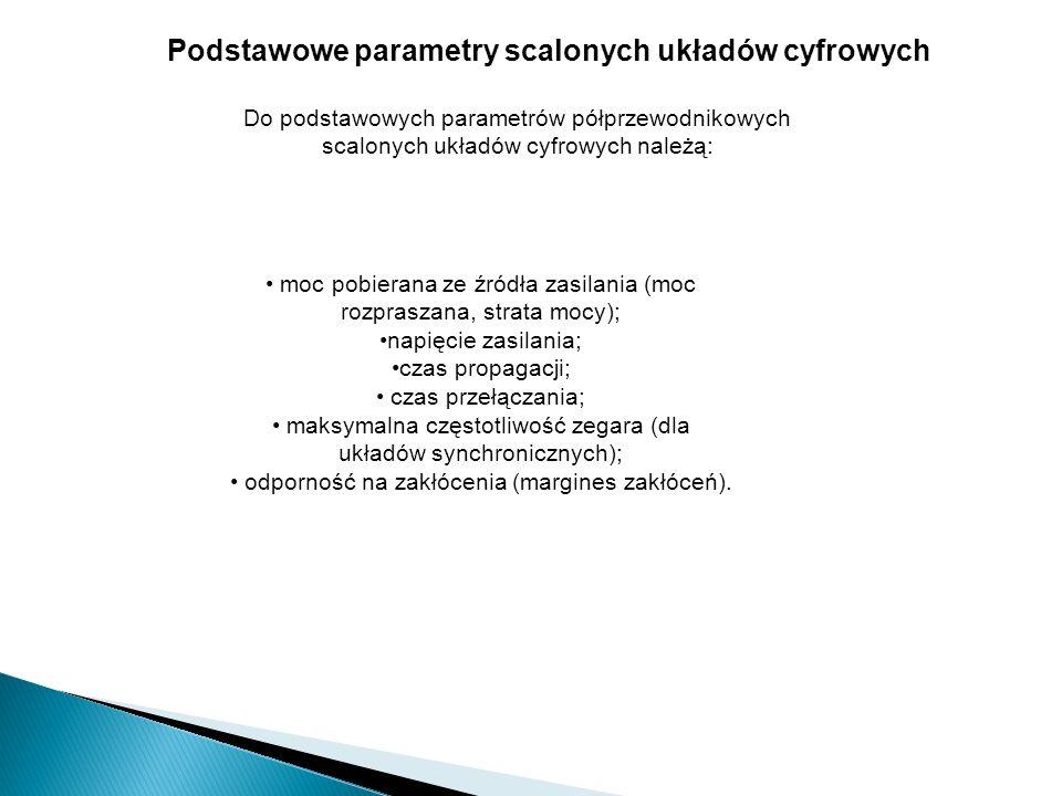 Podstawowe parametry scalonych układów cyfrowych