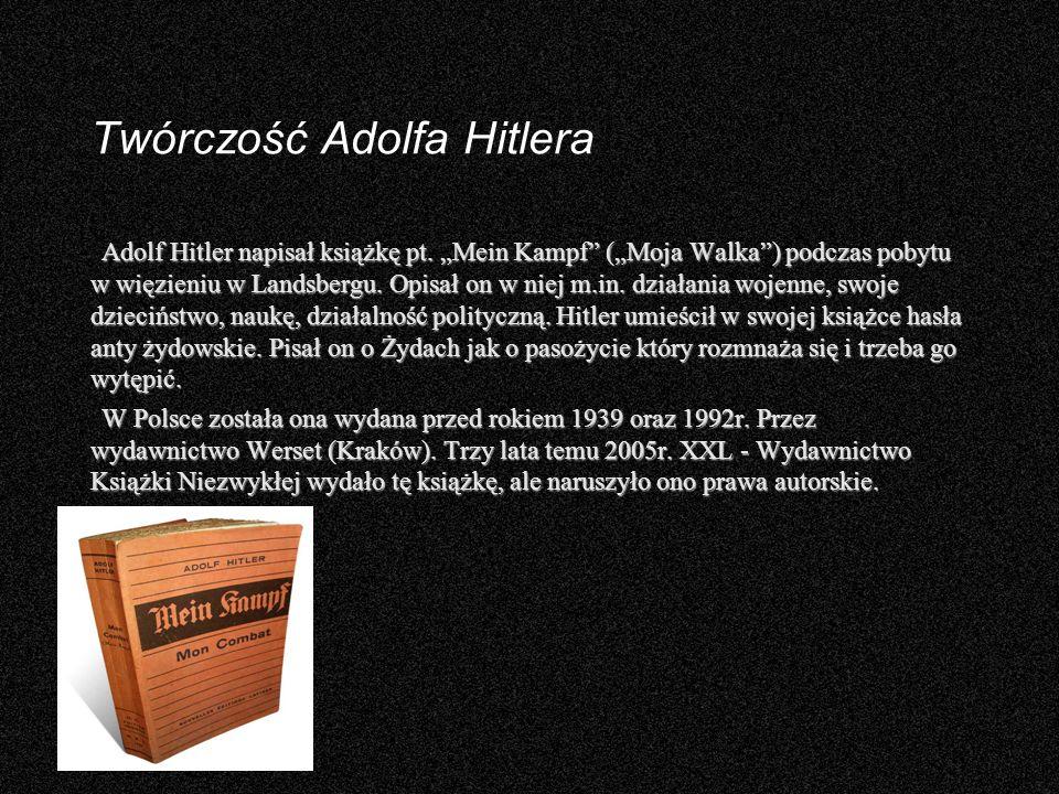 Twórczość Adolfa Hitlera