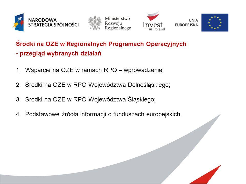 Środki na OZE w Regionalnych Programach Operacyjnych