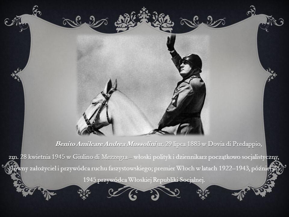 Benito Amilcare Andrea Mussolini ur