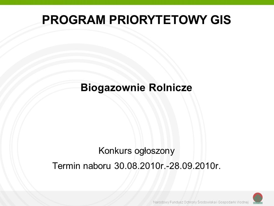 PROGRAM PRIORYTETOWY GIS