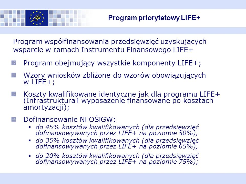 Program priorytetowy LIFE+