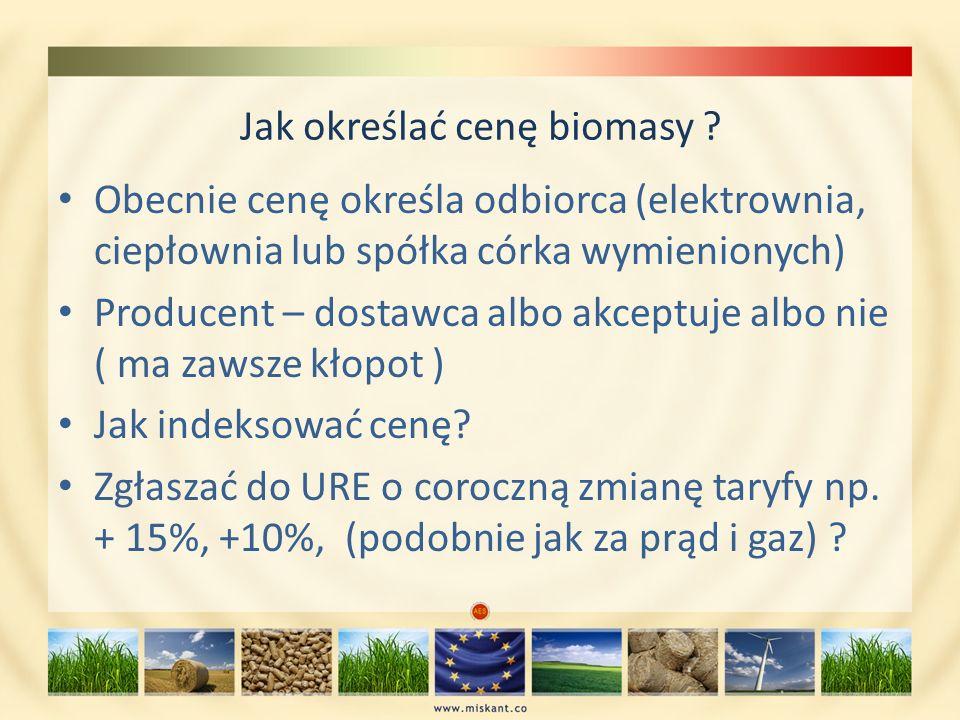 Jak określać cenę biomasy