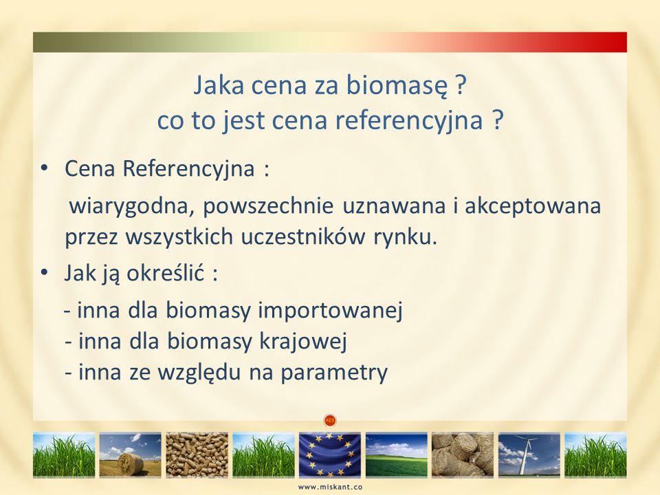 Jaka cena za biomasę co to jest cena referencyjna